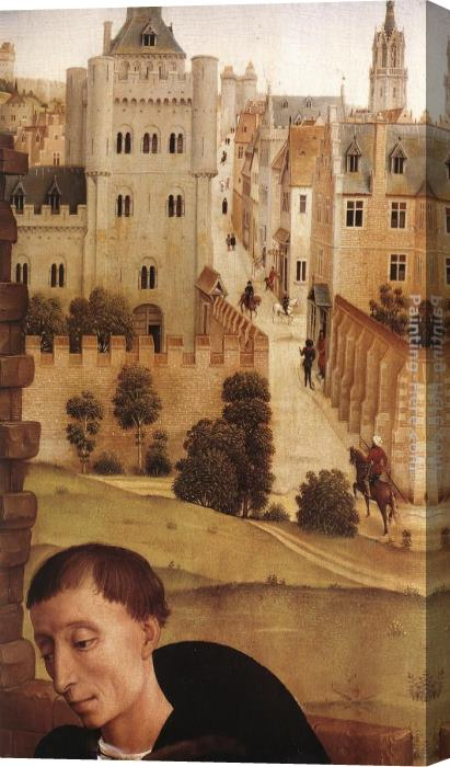 Rogier van der Weyden Bladelin Triptych central panel [detail 3] Stretched Canvas Painting